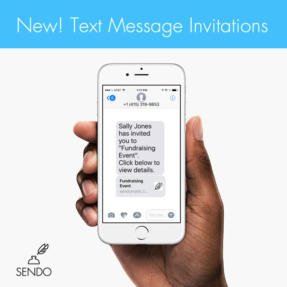 Sms text message invitations sendo invitations help center sms text message invitations stopboris Choice Image